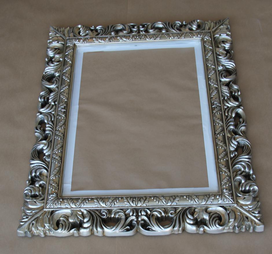 Silver Mirror Spray Painting Begins